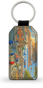 starks park going to the match  PU Leather Keyring Printed Both Sides